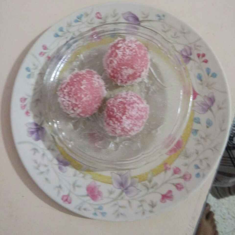 Photo of Coconut rose laddu by Aachal Jadeja at BetterButter