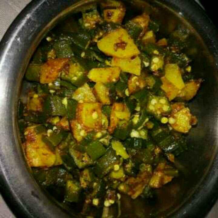 Photo of Ladyfinger potato sabji by Aachal Jadeja at BetterButter