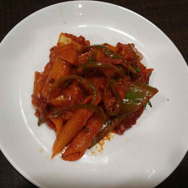 Photo of Red sauce capsicum pasta by Aachal Jadeja at BetterButter
