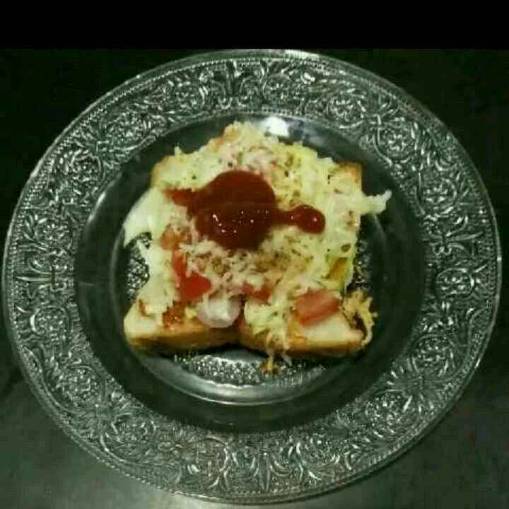 Photo of Open vegetable cheese sandwich by Aachal Jadeja at BetterButter