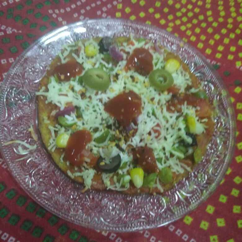 Photo of Multigrain flour fenugreek thepla pizzaa by Aachal Jadeja at BetterButter