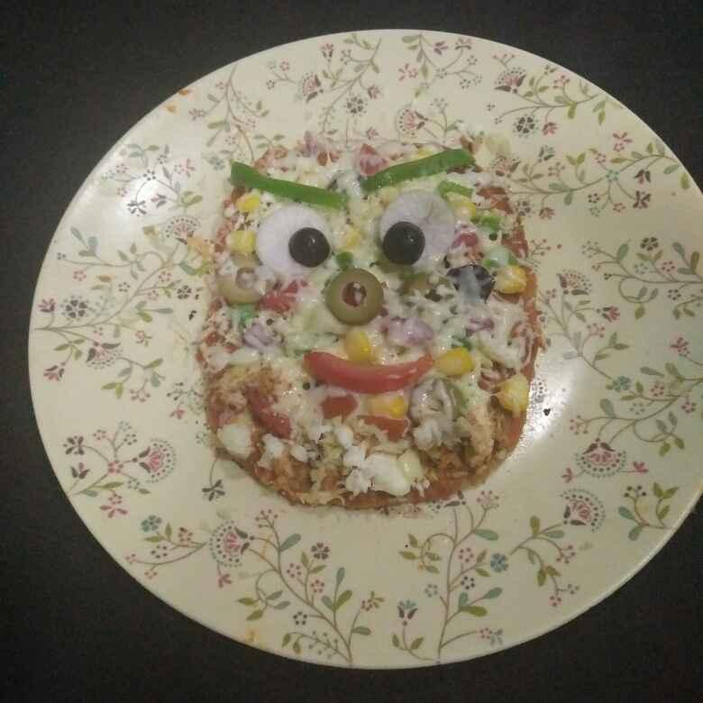 Photo of Angrybird wheat flour pizza by Aachal Jadeja at BetterButter