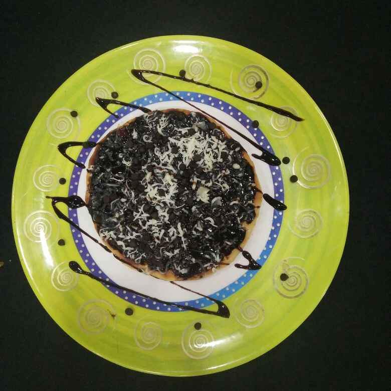 Photo of Chocolate chocochips pizza by Aachal Jadeja at BetterButter