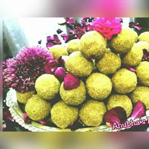 Photo of Moong dal laddu gud wale by Aanubha Bohra at BetterButter