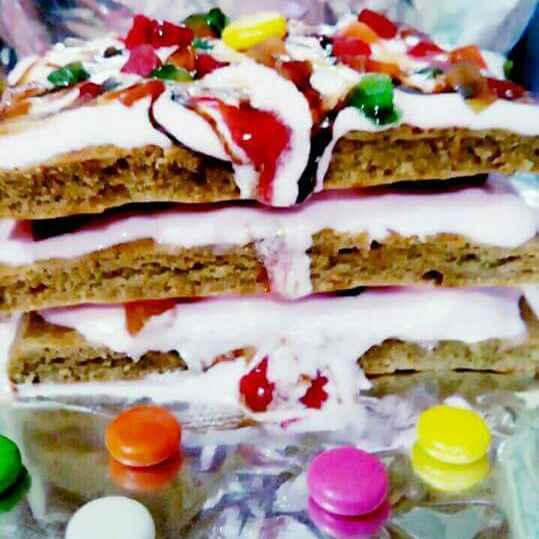 How to make Ice-cream  tea cake (gehu ke aate se bani) step by step