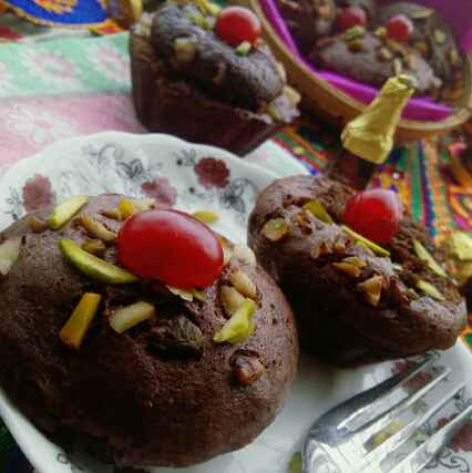 Photo of Dry fruits Choco idli cake and muffins (Eggless)  by yamini Jain at BetterButter