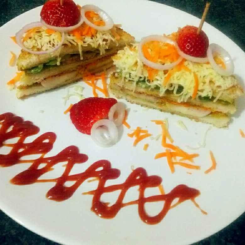 Photo of Layered dosa veggie cheese sandwich by yamini Jain at BetterButter