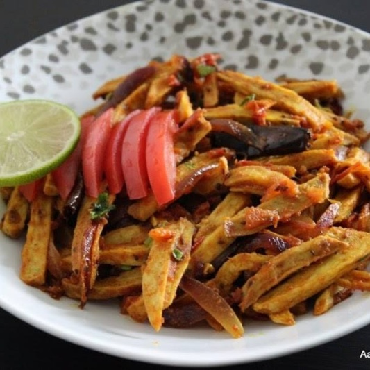How to make Arbi in fries style