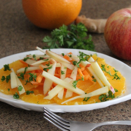 How to make Orange, Carrot and Apple Salad with Ginger Dressing