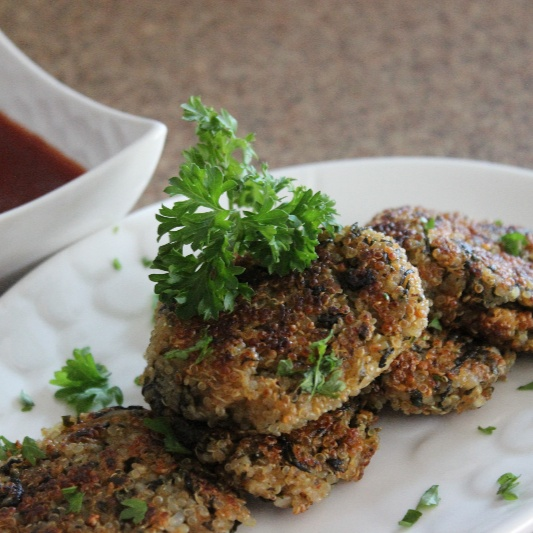 How to make Crispy Quinoa and Spinach patties