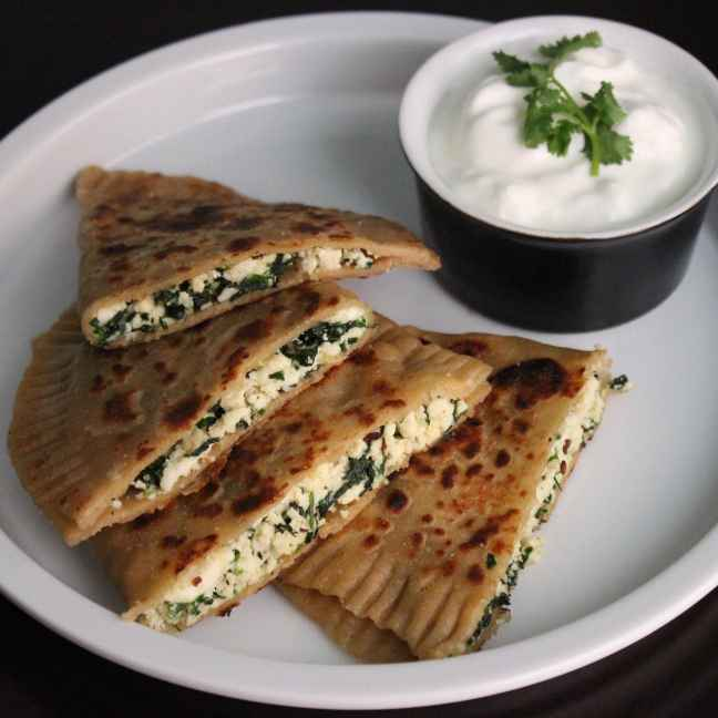 Photo of Spinach and Cottage Cheese Bolani by Aarti Sharma at BetterButter