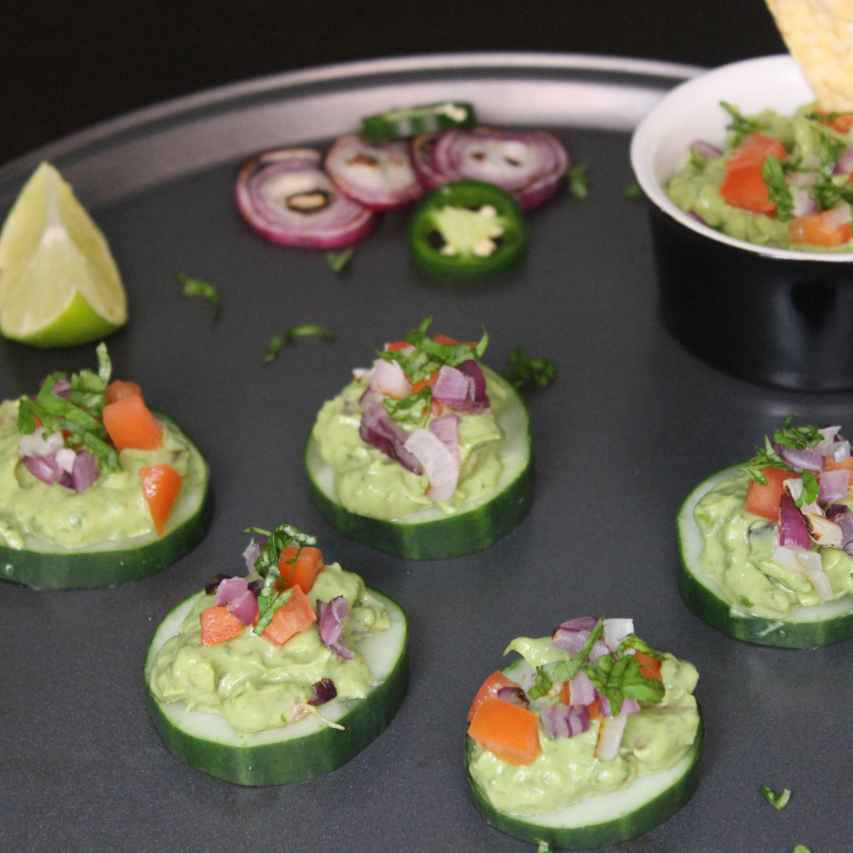Photo of Grilled Onion Guacamole Cucumber Bites by Aarti Sharma at BetterButter
