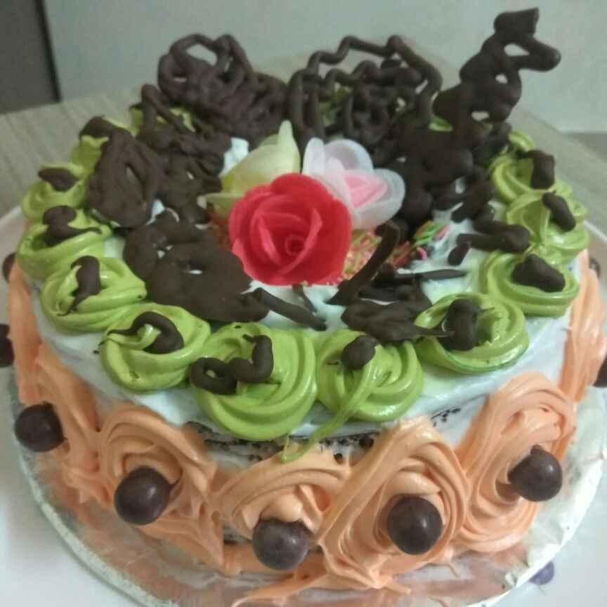 How to make Choco vanilla cake