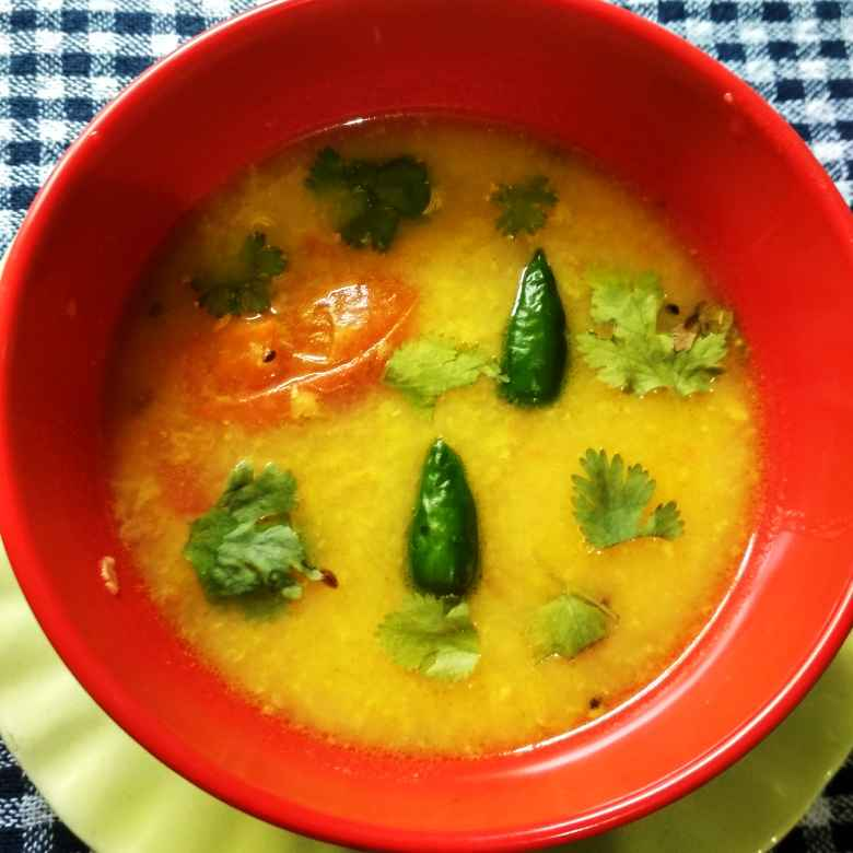 Photo of tomato die kancha muger dal by রুনু চক্রবর্তী chakraborty at BetterButter