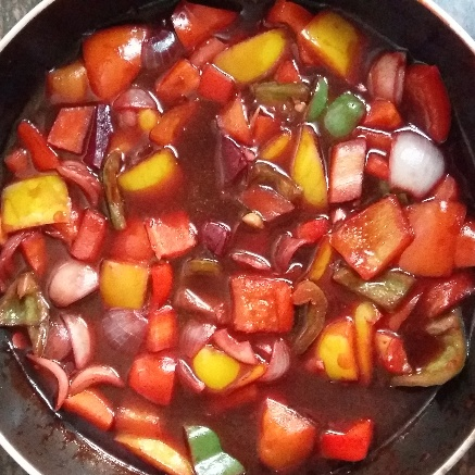 How to make Sweet  and  Sour  Mix Veg Curry