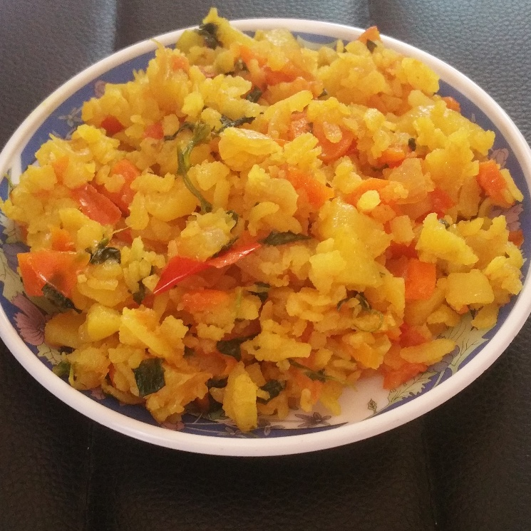 How to make Flattened Rice Khichdi