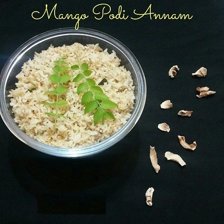 How to make Mango Podi Annam