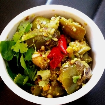 How to make Vankaya Kothimeera Karam (Eggplant With Coriander Curry)