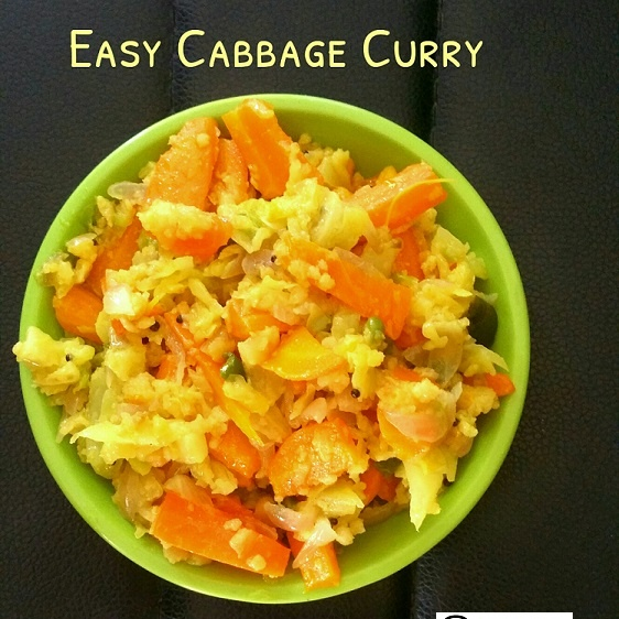 How to make Easy Cabbage Curry