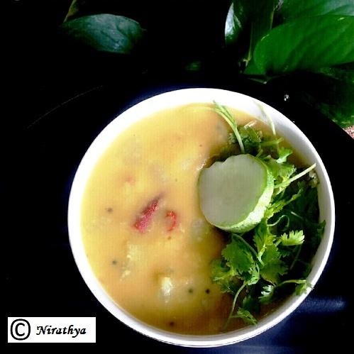 How to make Kheera Pappu / Salad Cucumber Dal