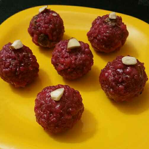 Photo of Beetroot Sweet Boondi Ladoo by Abhinetri V at BetterButter