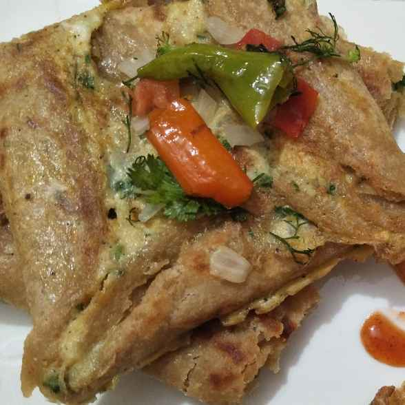 Photo of Egg pocket paratha by Abhinit Chawla at BetterButter
