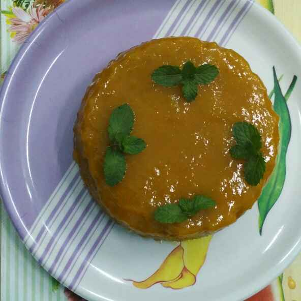 How to make Eggless Mango Cake With Mango Glaze