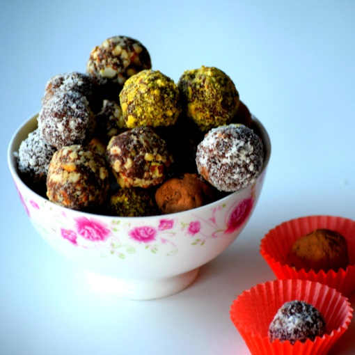 Photo of Nuts Coated Chocolate Truffles by Abi Guna at BetterButter