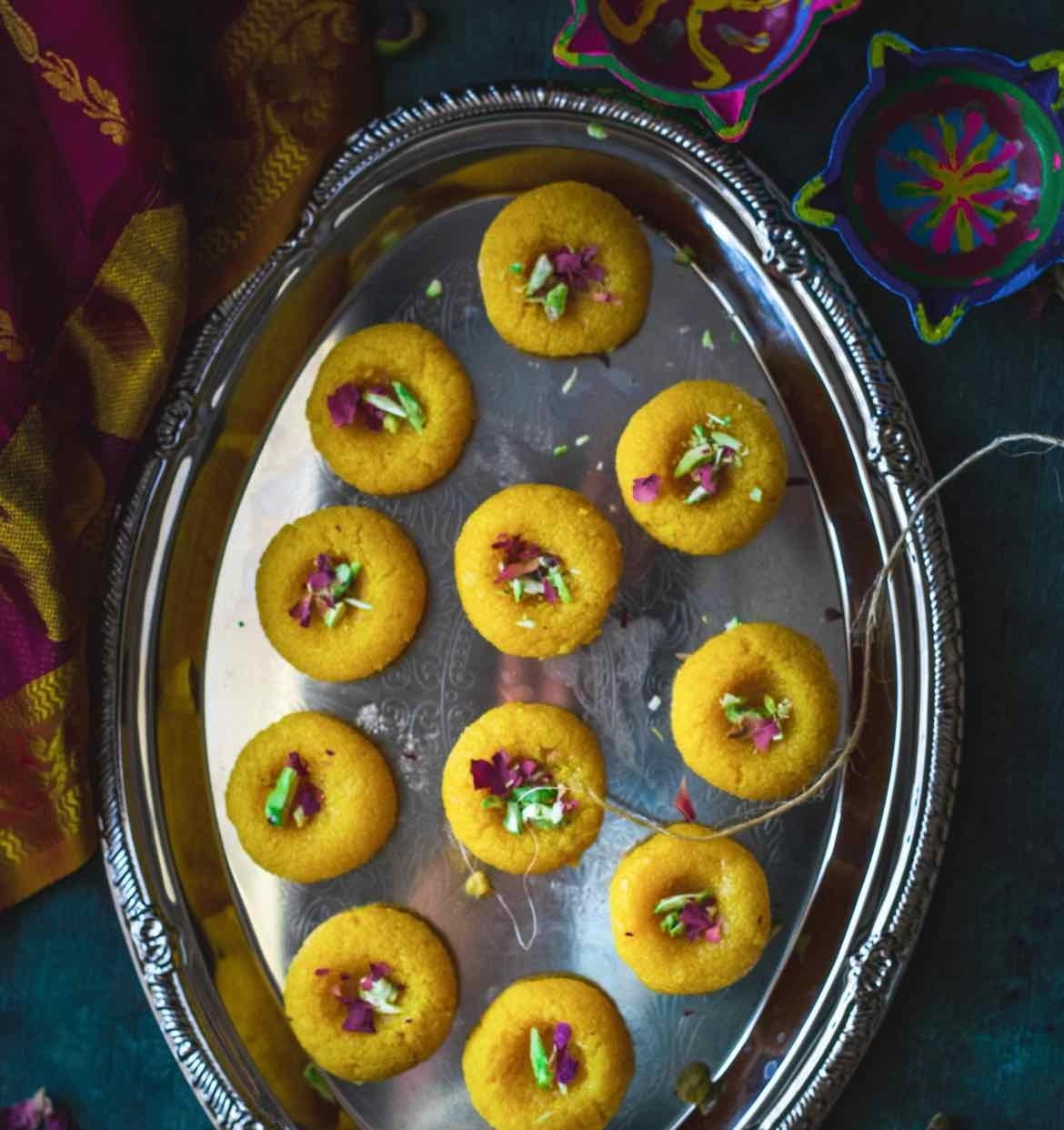 How to make Coconut and mango peda