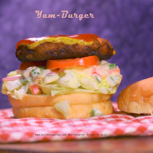 How to make Yam Burger