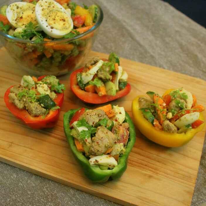 Photo of Egg Chicken Salad by Adwiti Mukhopadhyay Ray at BetterButter