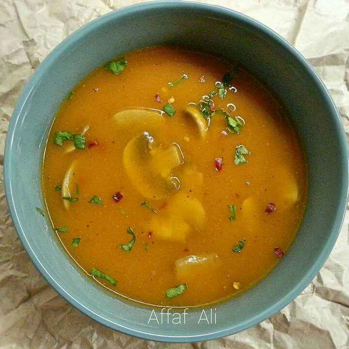 Photo of Carrot and Mushroom Soup by Affaf Ali at BetterButter