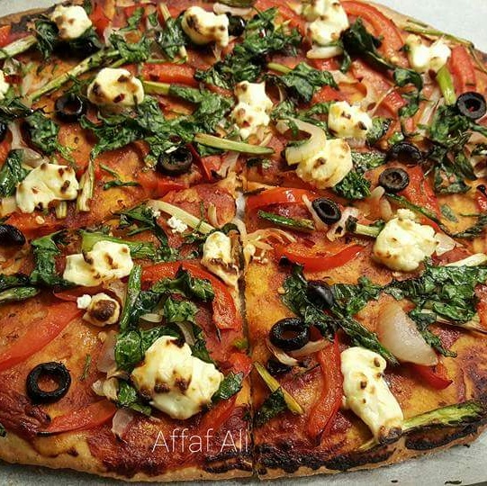 How to make Wholemeal Flour Thin Crust Pizza