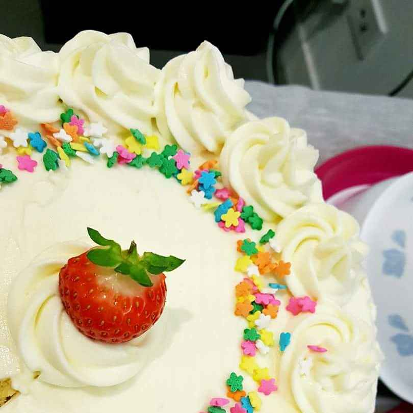 How to make Orange Cake with Fresh Cream and Cream Cheese Frosting