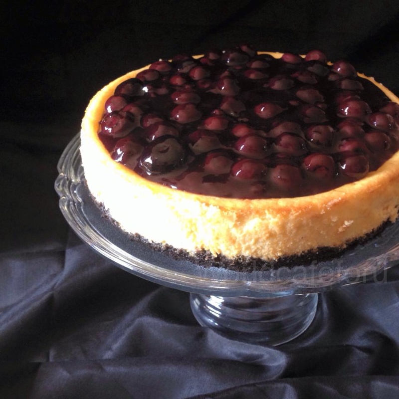 How to make Baked Blueberry Cheesecake