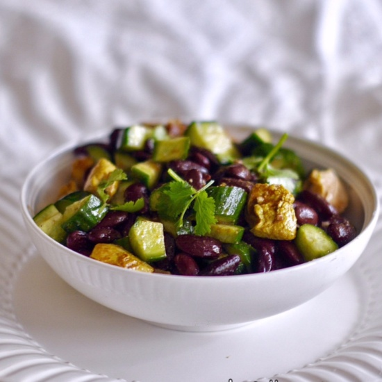 How to make Tandoori Chicken And Rajma Beans Salad