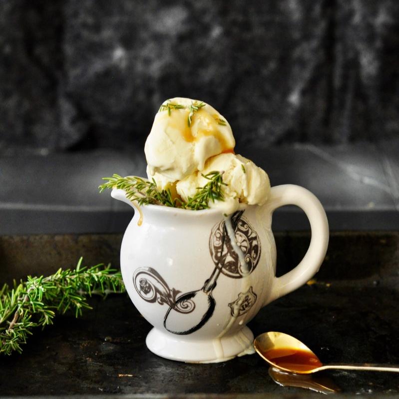 How to make No Churn Honey Rosemary Ice Cream