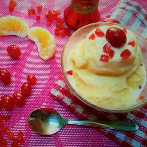 Photo of Orange IceCream With 3 Ingredients by Aishwarya Rangan at BetterButter