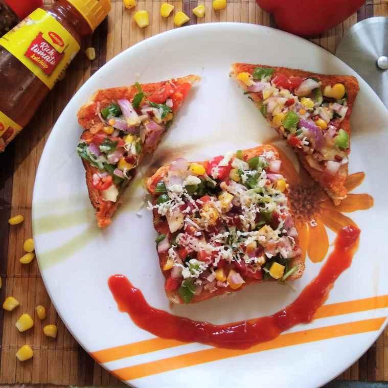 Photo of SweetCorn Bread Pizza On Tawa by Aishwarya Rangan at BetterButter