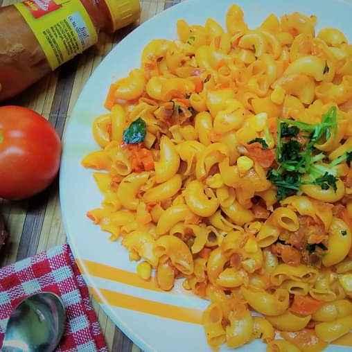 Photo of Veggie Macaroni For Kids Lunch Box by Aishwarya Rangan at BetterButter