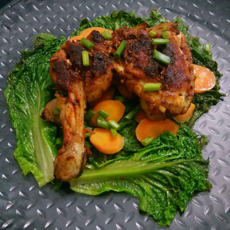 Photo of Pan Roasted Chicken Leg With Butter Sauteed Veggies by Akum Raj Jamir at BetterButter