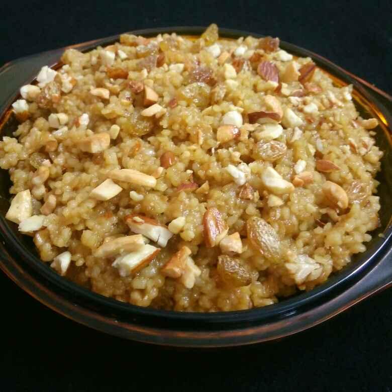 How to make Broken Wheat Halwa