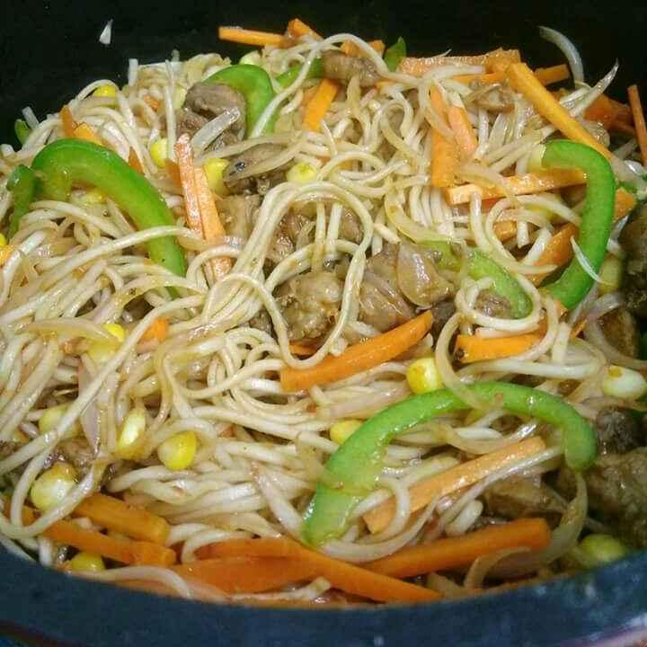 How to make Szechwan Chicken Noodles