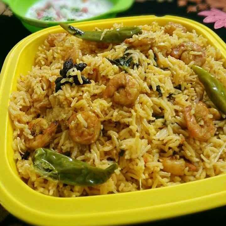 How to make Prawn Biryani in Pressure Cooker