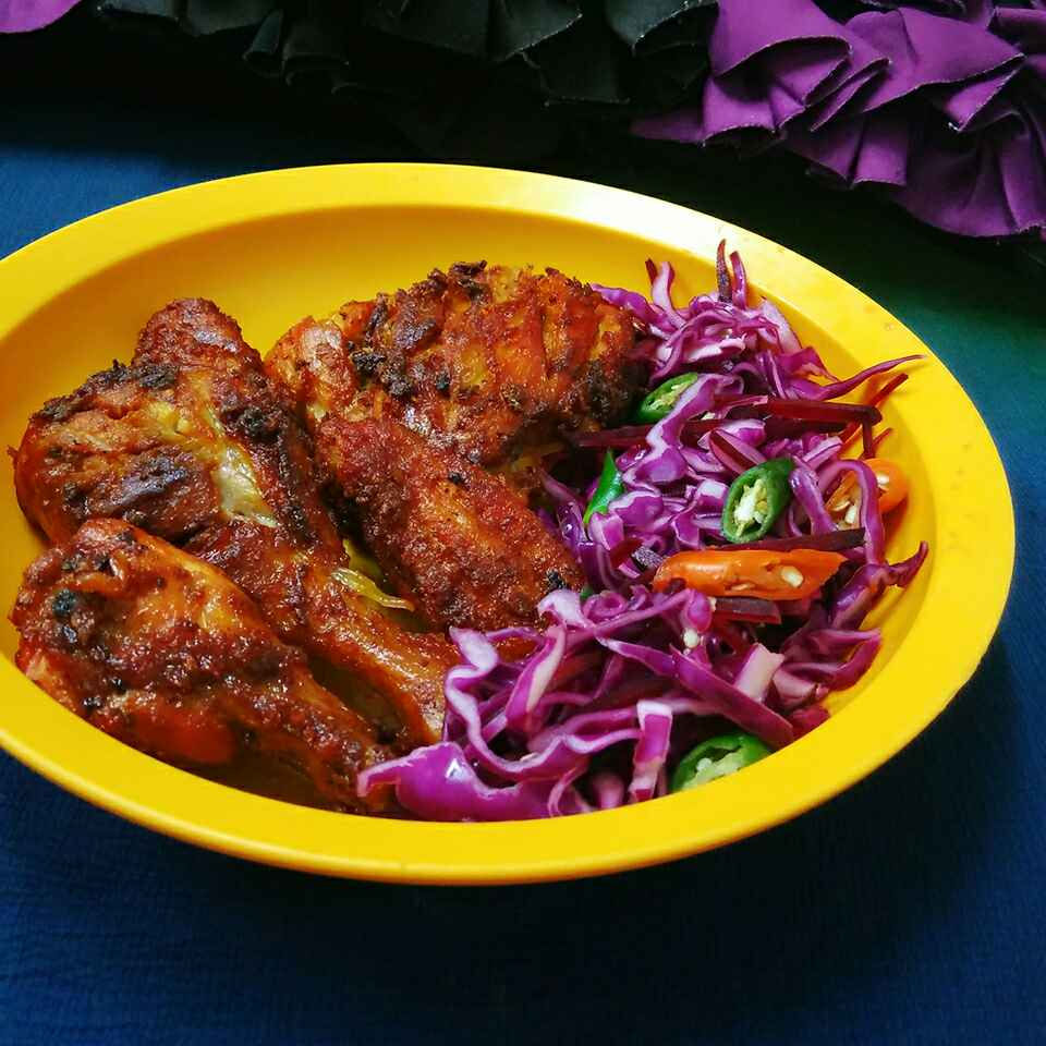 How to make Fried Chicken With Salad