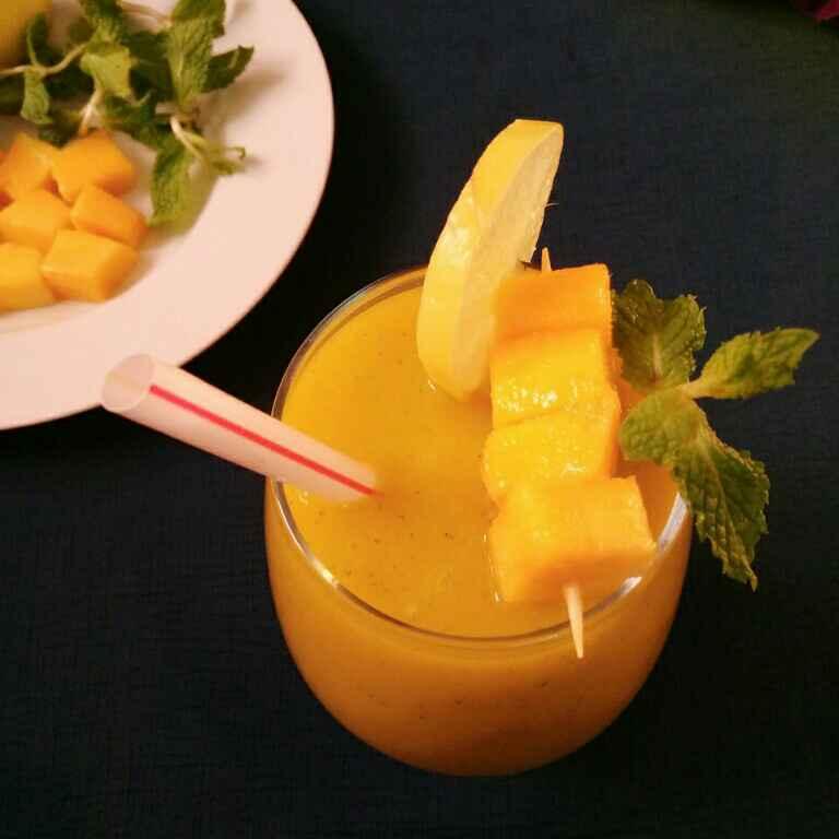 How to make Mango Mint Limeade Slush