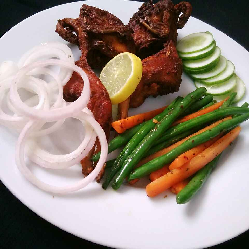 Photo of Fried Quail with butter herb tossed veggies by Akum Jamir at BetterButter