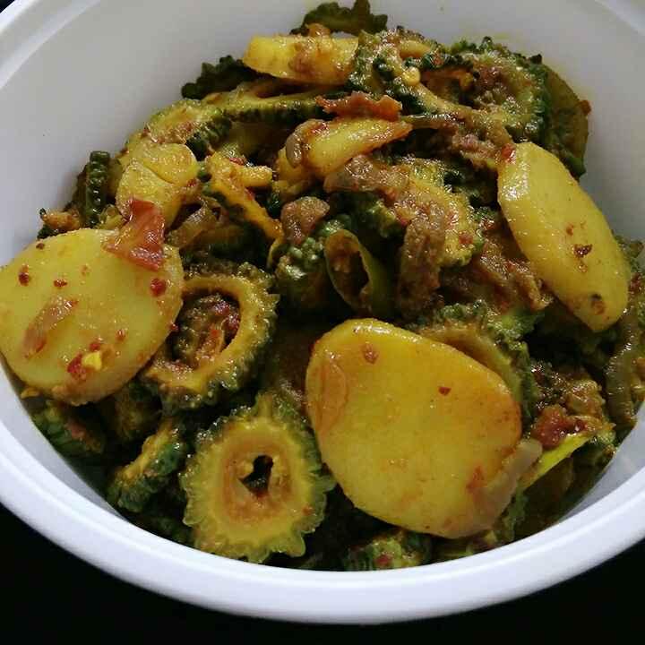 Photo of Bittergourd Potato Fry by Akum Jamir at BetterButter