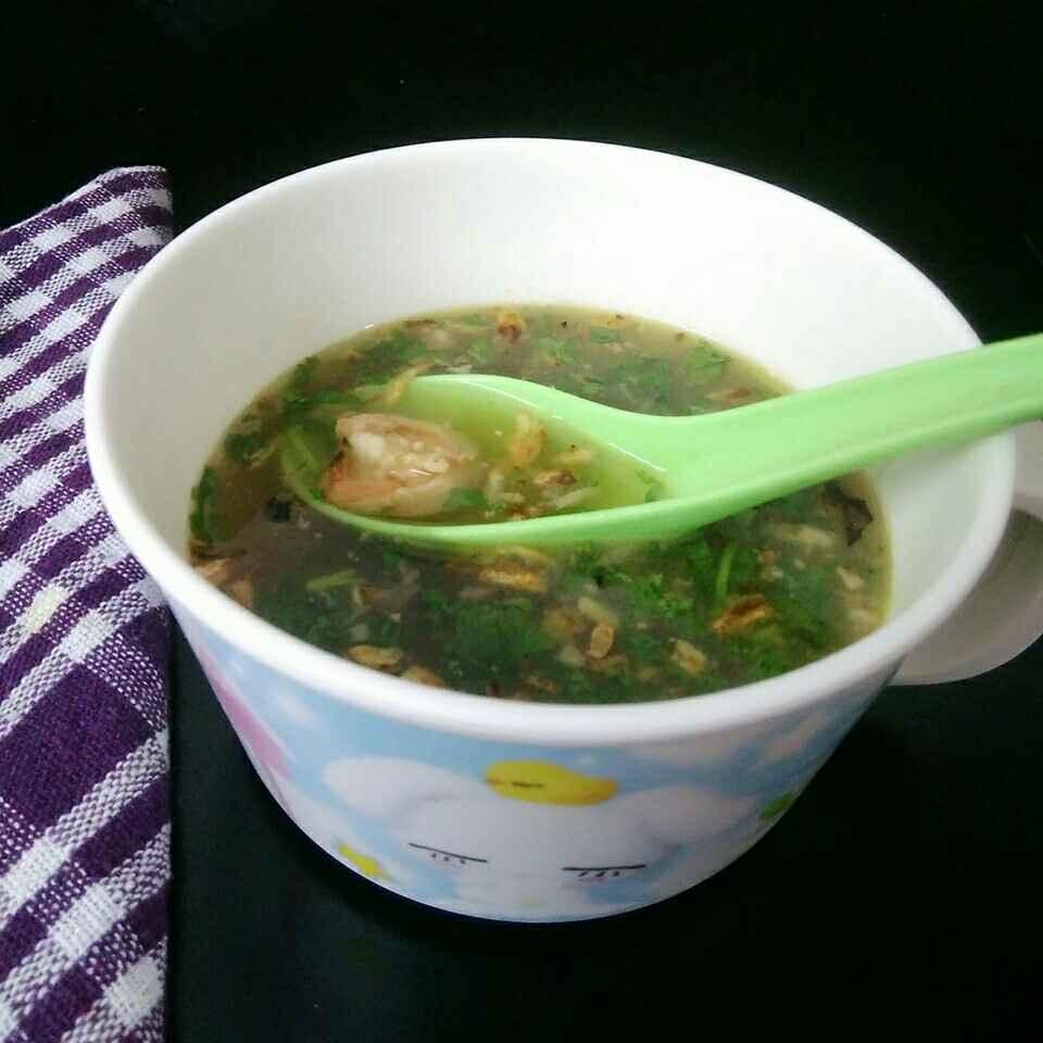 How to make Garlic Prawn Soup
