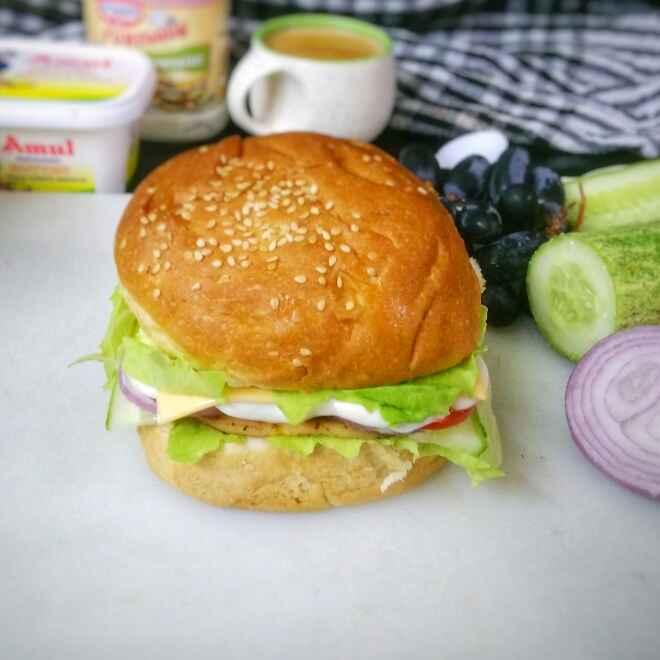Photo of Chicken Salami Burger by Akum Jamir at BetterButter